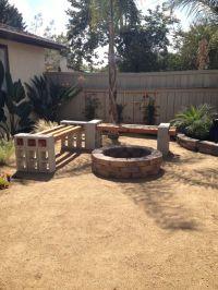 pinterest backyard for kids ideas | Fire pit bench from ...