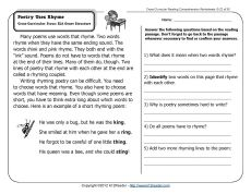 General Reading Comprehension Questions 2nd Grade 1000