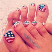 July 4th toe nail design | Holiday | Pinterest | Toe Nail ...