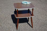 Mid Century Modern Two Tier Formica Top Table, Eames Era ...
