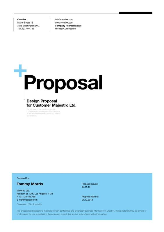 Doc450596 Business Project Proposal Template Proposal Sample – Business Project Proposal Template