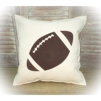 Decorative Pillow With a Football Silhouette Complete ...