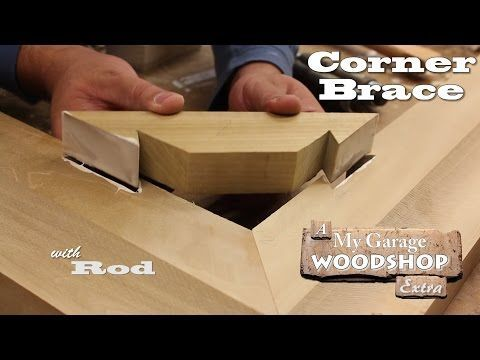 Making A Corner Brace - Youtube More | Woodworking Tips And Tricks