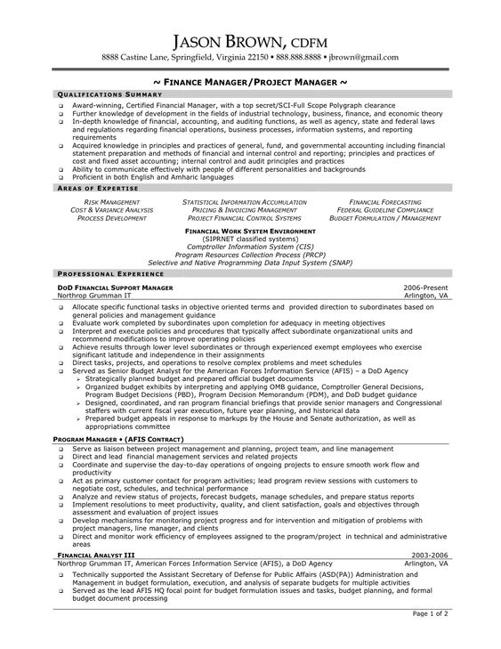 accounting areas of expertise resume - cost accountant resume