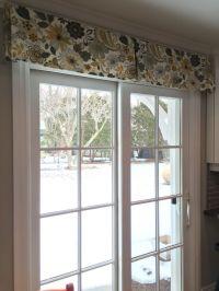Patio Door window treatment. Using a simple decorative box ...