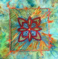 Orange highlights, Fiber art and Art walls on Pinterest
