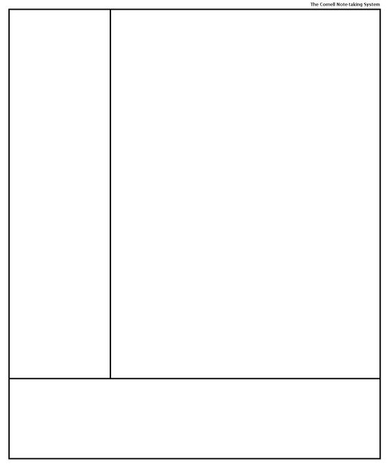 Cornell Note-taking System template template for penultimate - cornell note template