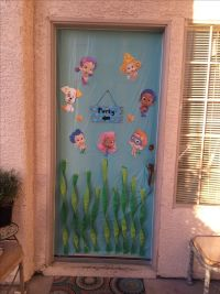 Bubble guppies Birthday Party front door decoration ...