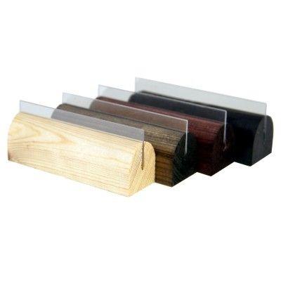 Small Wooden Menu Holders With Pvc Grippers Dark Oak