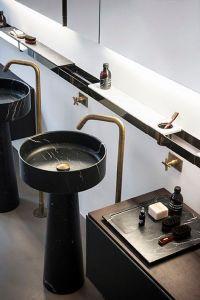 marble pedestal sinks | Bathrooms! | Pinterest | Design ...