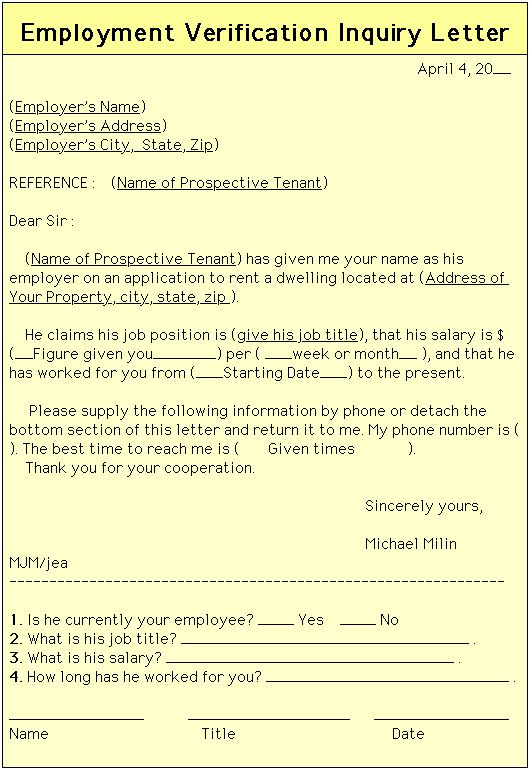 Rent Verification Letter Sample - Template Examples - landlord verification form