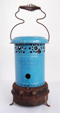 Antique Kerosene Heater Blue Enamel - Hot Blast Kerosene ...