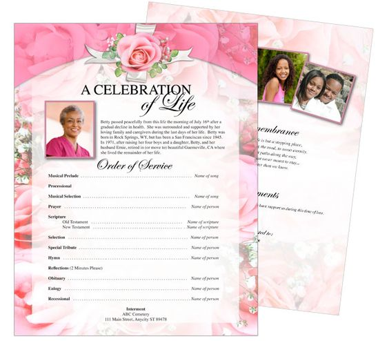 memorial page template - 28 images - funeral program templates - funeral templates