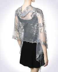 Stunning Silver Evening Shawl must have women's dressy ...