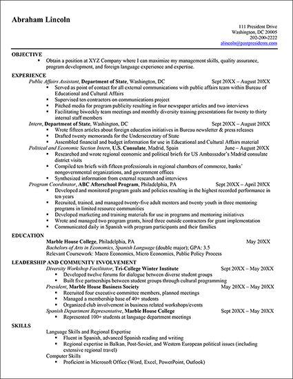 cfa resume guidelines