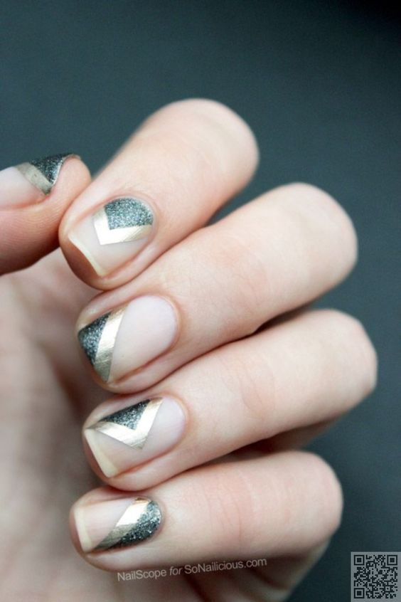 38 #Metallic Nail Art Ideas That Will Rock Your #World ...: