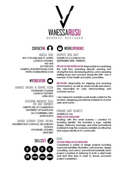 Awesome Graphic Design Resumes Via Kv'S Confessions. #Resume