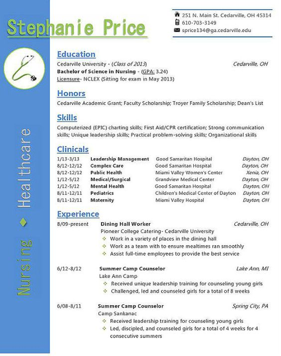 sample resume for nurse anesthesia school