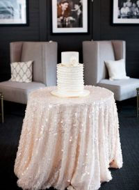 Romantic pink sequin tablecloth for the cake table! Photo ...
