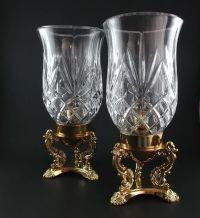 Vintage Hurricane Lamps Candle Holders Godinger 24% ...