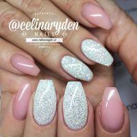 Diamond glitter, Glitter nails and White diamonds on Pinterest
