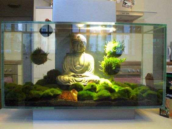 Aquarium design buddha buddha aquarium statue 2017 for Decoration zen aquarium