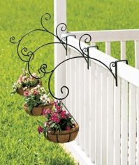 NEW ~ Set of 3 or Single Porch Railing Balcony Metal Plant ...