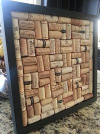 Framed Wine Cork Board Wall Decor! | CRAFTS for the Home ...
