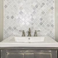 We are in love with the Hampton Carrara Marble Arabesque