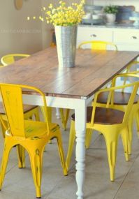 DIY Revamped Rustic Kitchen Table