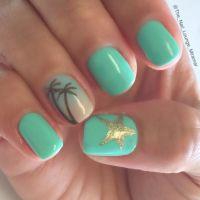 Summer palm tree star ombr nail art design | Nail Art ...