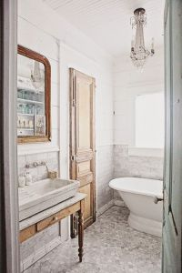 Dreamy Whites: French Inspired Bathroom Remodel, Carrera ...