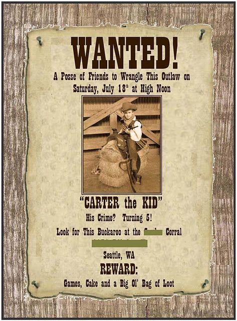 cute wanted posters