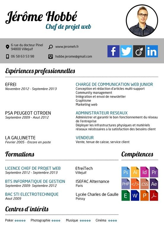 competences cv chef de projet traduction