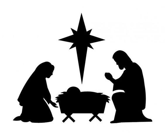 free silhoutte nativity scene patterns