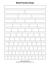 Download free blank fraction strips and a blank fraction ...