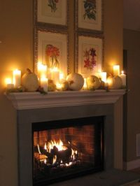 Pumpkins, Fireplaces and The white on Pinterest