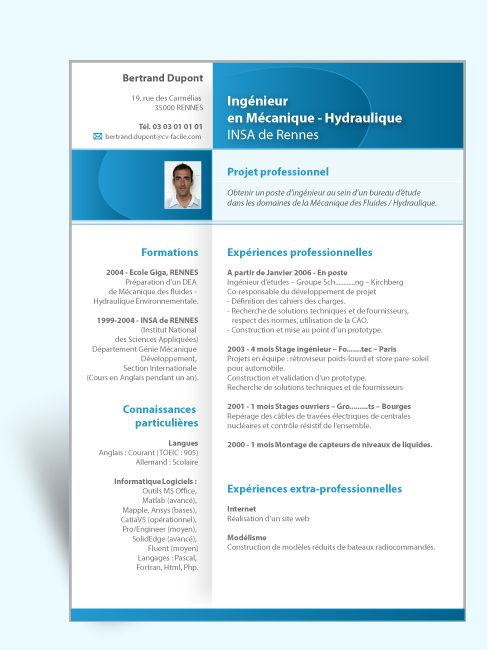cv adjointe administrative