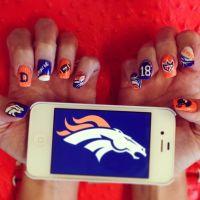 Denver broncos nails, Broncos and Denver broncos on Pinterest