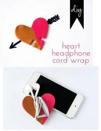 Diy: heart headphone cord wrap - polymer clay & cookie ...