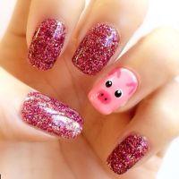 Pig nails, Pig nail art and Pigs on Pinterest