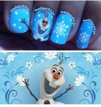 Olaf Nail Art. disney. frozen. #nails DIY NAIL ART DESIGNS ...