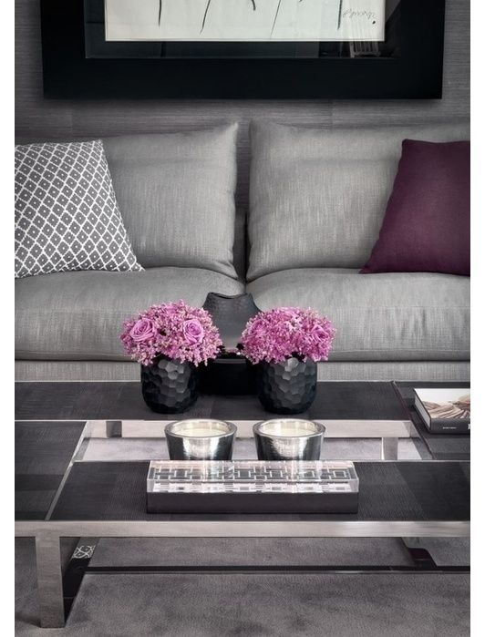 Silver and purple lounge, oh my. I might go for a white