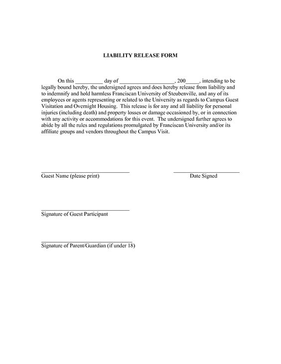 Vehicle Release Form Click Here For Your Entry Form Dog - general release of liability form template