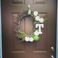 Diy monogram, Front door wreaths and Door wreath on Pinterest
