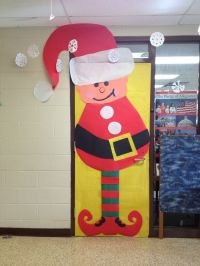 Christmas classroom door decoration: Elf.