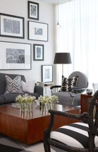 yummy to the gray & caramel tones! Modern Chic Living Room ...