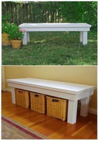 DIY bench tutorial. Be great by the front door for shoes ...