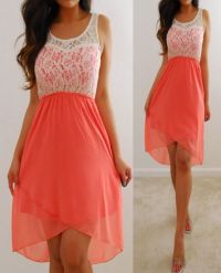 RUE 21 Ivory Coral Pink Lace Chiffon Forever Flowy Elegant ...