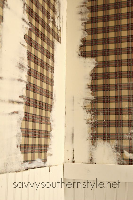 Savvy Southern Style: How To Paint Over Wallpaper Gluing Down